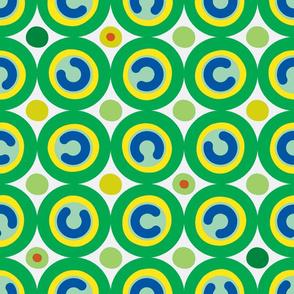 cup & saucer - greens #2