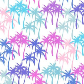 Colourful Palm Trees #13