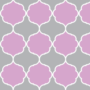 Damask - lavender and gray