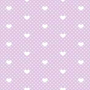 Polka Dot Heart in Lavender Mist