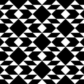 Navajo Inspired White on Black Geometric