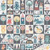Nutcracker Cheater Quilt