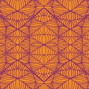 Webs, orange-purple