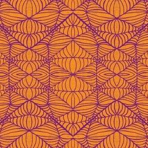 Webs, orange-purple