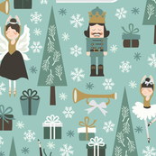 the nutcracker in teal