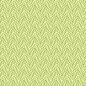mini feather herringbone - green tea