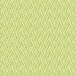 mini feather herringbone - green tea