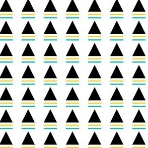 striped triangle teal yellow