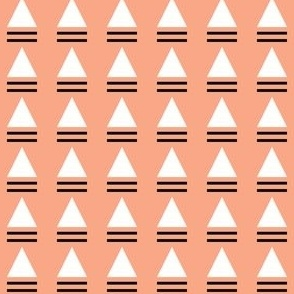 striped triangle peach