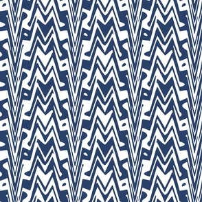 aztec zigzag in navy