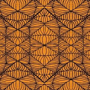 Webs, orange-black