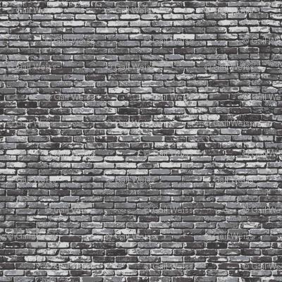 Brick -Grey - gail_lizette - Spoonflower