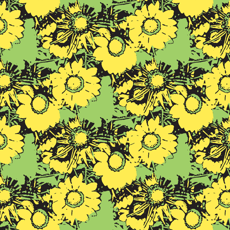 Starburst Print Green and Yellow