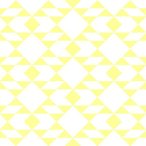 Navajo Inspired Lemon on White Geometric