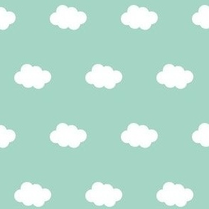 white clouds on mint