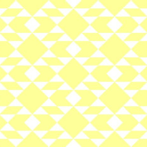 Navajo Inspired White on Lemon Geometric