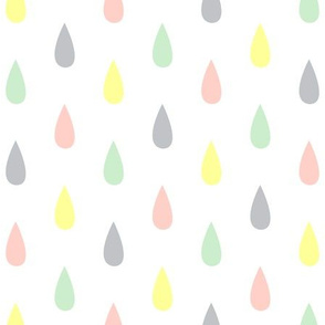 Colourful Raindrops Lemon, Peach, Pistachio, Mist