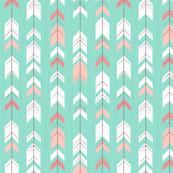 Mint Pink Tribal Arrows