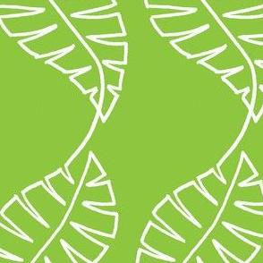 single line leaf green