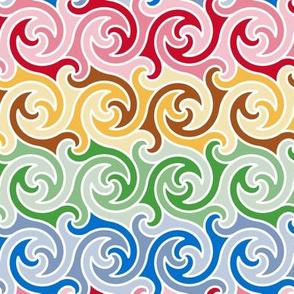 spiral stripes - xmas