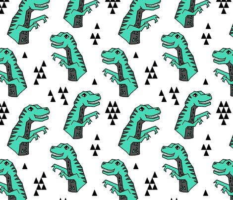 Dinosaur dino kids nursery baby geometric triangles for Baby dinosaur fabric