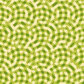 apple circle woven lattice