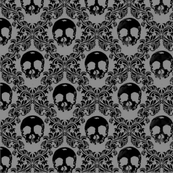 black skulls on black and grey-ed