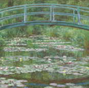 Claude Monet - The Japanese Footbridge - 1899 - Painting PUBLIC DOMAIN