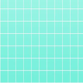 Ombré grid mint