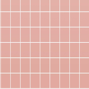 Ombré grid wallpaper rose
