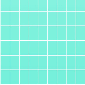 Ombré grid wallpaper mint
