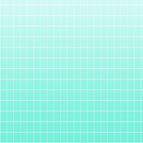 Ombré grid mint repeat