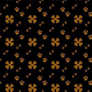 Cross Dog bones and Paw prints
