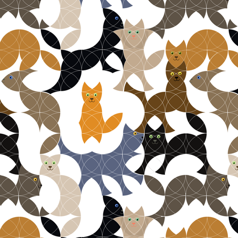 Overlapping Circle Cats