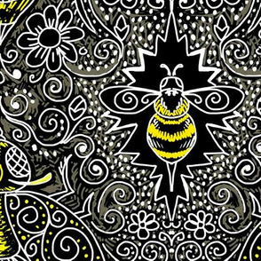 chalkboard filigree bee