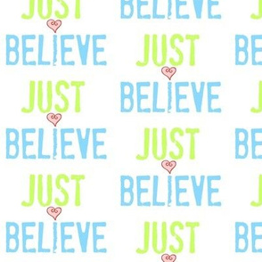JUST BELIEVE- Ocean heart Small crop