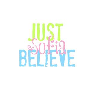 JUST BELIEVE- Ocean LG-pink personalized