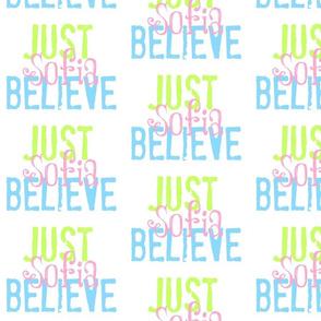 JUST BELIEVE- Ocean-pink personalized
