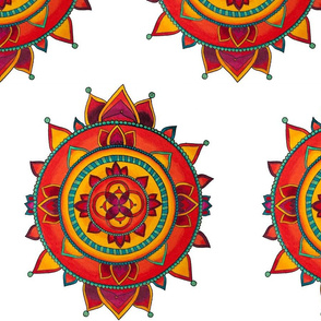 Native Mandala (White)