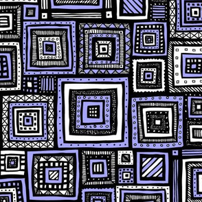 Tribal Squares (Purple)