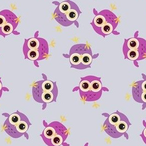 Six Baby Owls in Daylight by Catu Design