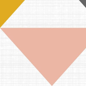 Blush Gold Gray Triangles