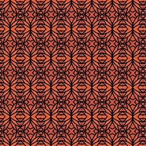 Abstract Butterflies Orange Black