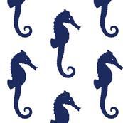Sea Horse in Navy