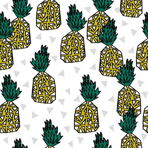 Pineapple - White Background Triangle by Andrea Llauren