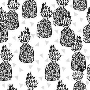 pineapple // pineapples tropical fruit grey