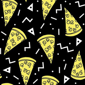 Pizza Party - Black/Yellow by Andrea Lauren