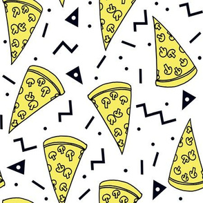 Pizza Party - Yellow/White by Andrea Lauren