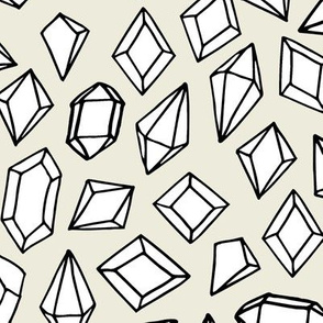 Crystal Gems - Cream background by Andrea Lauren