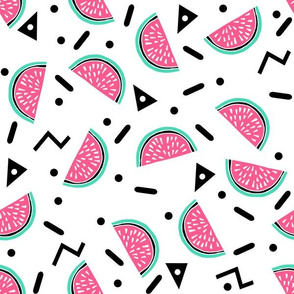 Watermelon Party - Pink and Light Jade Triangle Zig Zag Design by Andrea Lauren